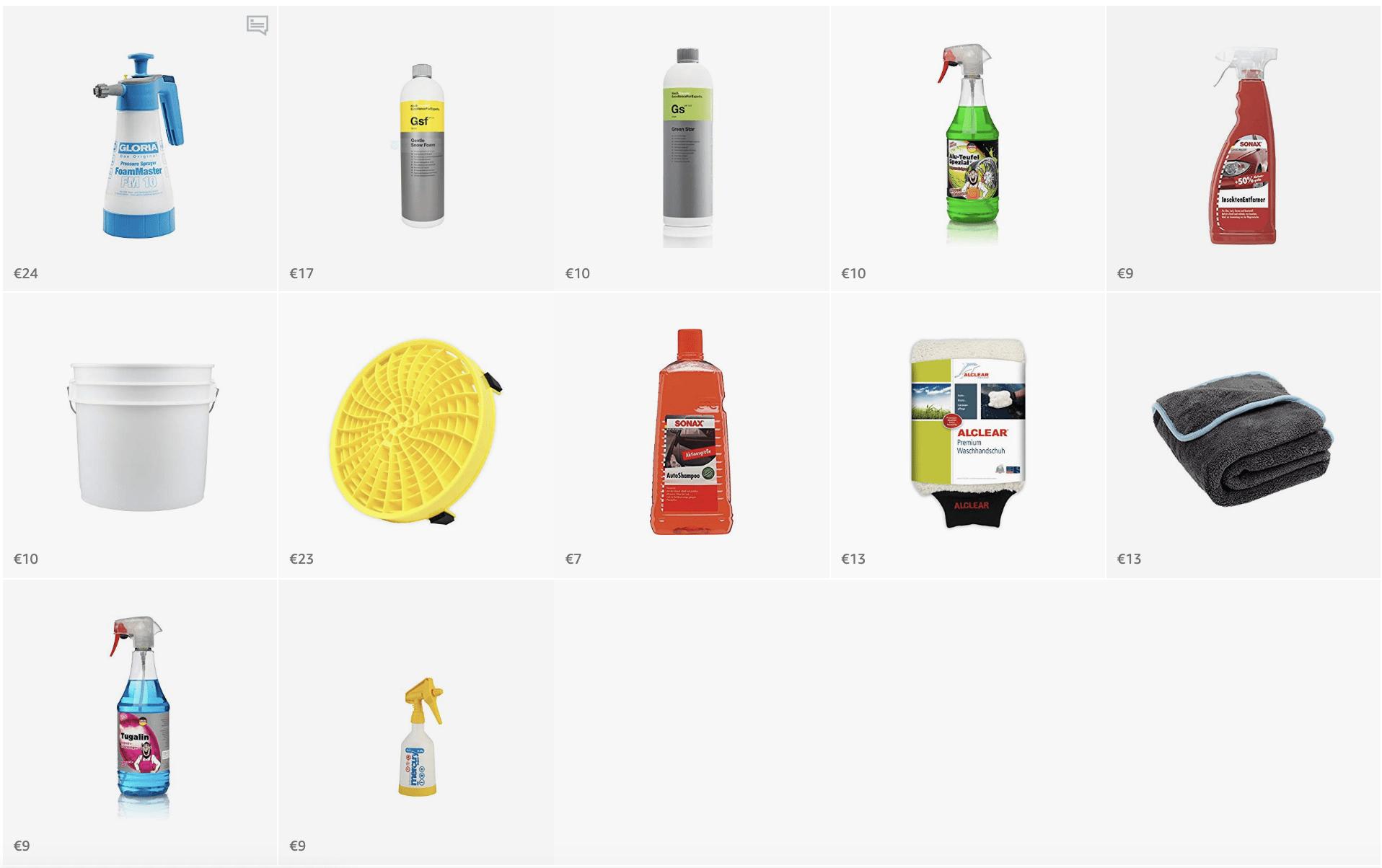 Autopflege – Set